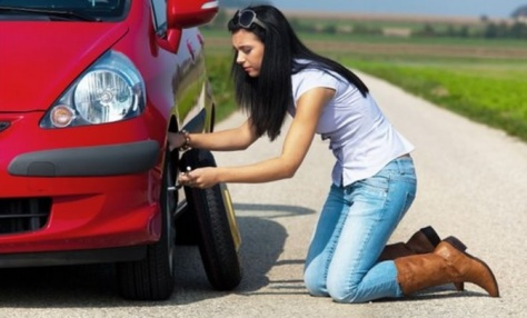 flat tire change service - Chino's Towing