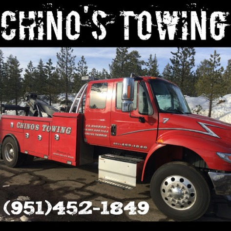 chinos towing flat tire change
